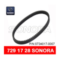 SCOOTER V BELT 729 x 17 x 28 MOTORCYCLE V BELT (P / N: ST04017-0007) CALIDAD ORIGINAL
