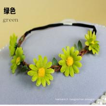 Daisy Flowers Garland Stretch Headband (HEAD-353)