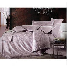 Luxury Polyester and Modal Jacquard Bed Sheet Set Hw-1308