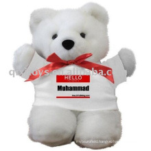 plush teddybear with T-shirt,soft baby toy