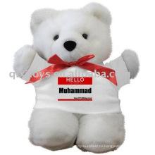 плюшевый медвежонок с футболки,мягкие детские игрушки