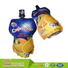 Benutzerdefinierte Logo Design Food & Beverage Fruchtsaft Paket Doy Pack Beutel 150 Ml Folie aufstehen Tülle Bag