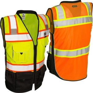 high vis warmteoverdrachtstrip vest biocolor