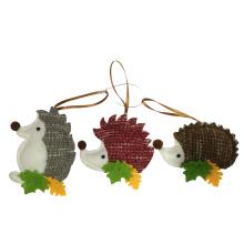 Décorations suspendues pendentif hérisson de Noël