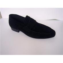 Zapatos casuales para hombre de gamuza negra NX 522
