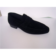 Black Suede Mens Casual Shoes NX 522