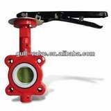 red butterfly valve with Epoxy coating