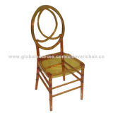 Transparent Amber Resin Phoenix Chair with CushionNew