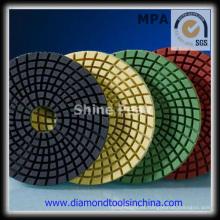 3 pasos de almohadillas de pulido de diamante para hormigón de mármol de granito