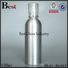 botella de bomba de pulverización de presión de plata