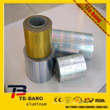 Rouleau de feuille d'aluminium froid imprimé pour emballage pharmaceutique