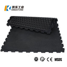 Farm Livestock Anti Slip/Fatigue Cow/Horse Stable Stall Safety Rubber Floor Comfort Mats with Interlocking
