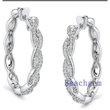 New Trendy 925 Sterling Silver Earrings Findings CZ