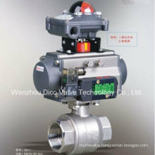 2 PCS Thread Pneumatic Actuator Ball Valve