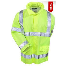 Men's High-Visibility Yellow Green Waterproof Work Jacket