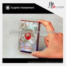 Hologramm USA transparente Wickelfolie für Tabak View Box