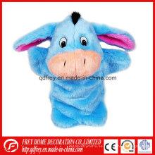 Juguete caliente lindo del burro de la marioneta de la mano de la venta para el bebé