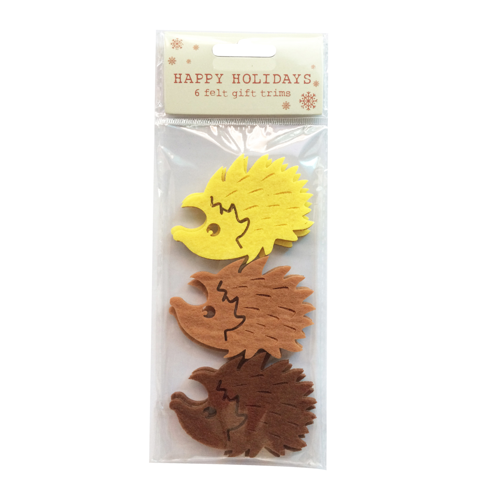 Easter Hedgehog Shape Sticker