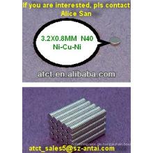 Kleine Scheibe Neodym-Magneten für Computerteil