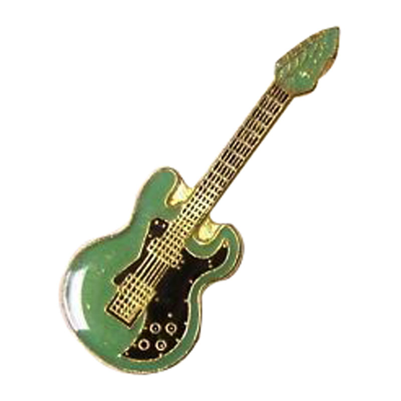 Silver Guitar Lapel Pin