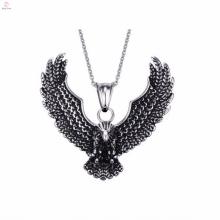 Hot Selling Fashion Aço Inoxidável Gravado Polonês Eagle Design Pingentes