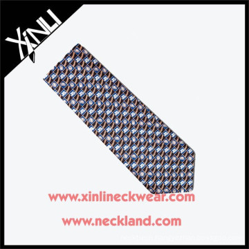 High Quality New Fashion Men Silk Custom Print Tie Hombres