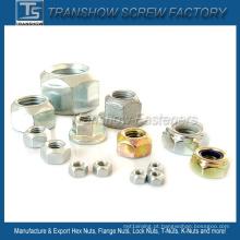 Porcas de fixação padrão DIN ISO