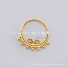 Wholesale Ethnic Septum Nose Ring Jewelry, Septum Designer Nose Ring Silver Body Jewelry Suppliers