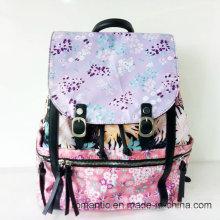 China Supplier Fashion Women Nylon Printed Backpack (NMDK-050303)