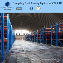 Mezzanine de panneau d'acier soutenue par support résistant pour l'entrepôt avec l'OIN / SGS