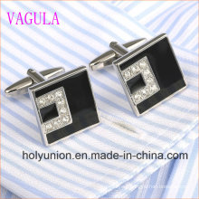 High Quality VAGULA Men French Shirt Crystal Silver Cufflinks 332