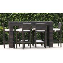 Jardín del mimbre de la rota de resina al aire libre barra muebles Patio