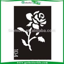 11*8cm Temporary Tattoo Rose Stencil Flower Tribal Glitter Tattoos