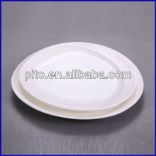 straw oval plate