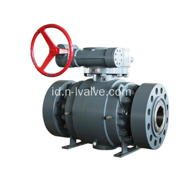 Wormgear Operated Trunnion Ball Valve