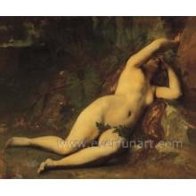 Mulheres bonitas nu corpo pintura sobre tela Ebf-027