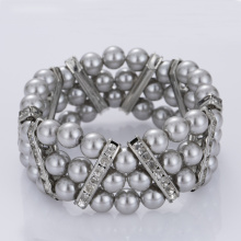 China New Product for Offer Pearl Cuff Bracelet,Womens Cuff Bracelet,Wholesale Cuff Bracelets From China Manufacturer Three Strand Beaded Jewelry Bracelets supply to Philippines Factory