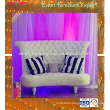 White diamond loveseat wedding sofa