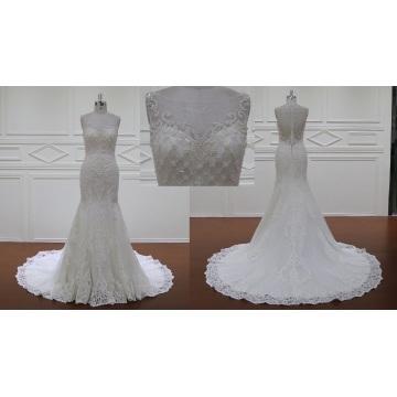 Ivory/White Long Mermaid/Trumpet Bridal Gown
