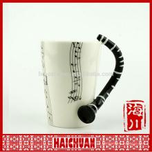 Taza de agua mugceramic cerámica de la música al por mayor