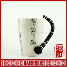 wholesale music ceramic mugceramic water cup