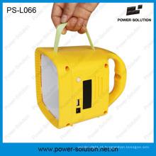 Lanterna solar qualificada com rádio FM e MP3 Player