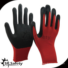SRSAFETY Nitrile dipped non slip working glove