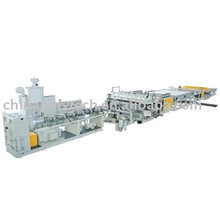 Provide PC,PP,PE,PVC hollow sheet extrusion line