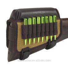 Accesorios de la pistola de caza Tourbon Pistola de rifle Culata de la mejilla Respaldo de cartuchos de lona Cartuchera para disparar