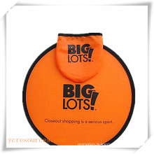 Frisbee en nylon pliable avec logo imprimé