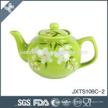La tetera de 2015 teñió el pote de cerámica del té 6cup, tetera pintada a mano, tetera del estilo chino