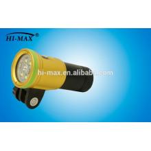 Hi-max patent diving torch xml u2 2400 lumen 140 wide beam led diving flashlight