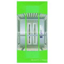 Современный смотровый лифт с малым машинным залом