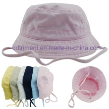 Cotton Twill Neck Strap Infant Women Leisure Bucket Hat (CSCBH9416)